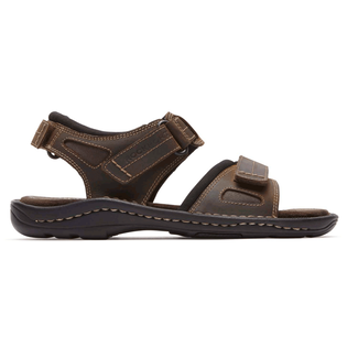 Kevka Lake Quarter Strap SandalRockport Men's Dark Brown Kevka Lake Quarter Strap Sandal